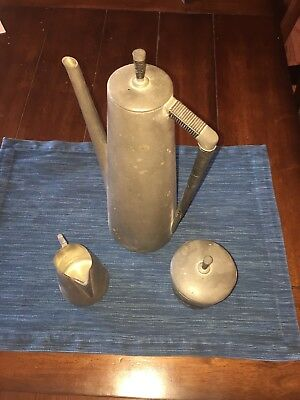 Vintage Royal Holland Pewter Tea Coffee Serving Set KMD
