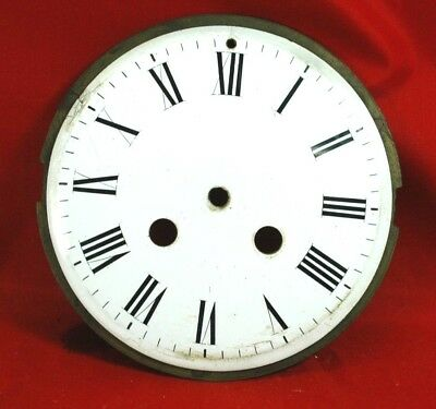 Antique large french porcelain white clock dial