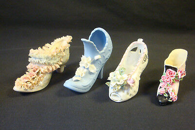 Mixed Lot of 4 Porcelain Decorative, Shoes   Collectibles