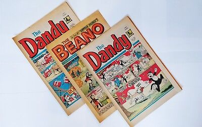 BEANO AND DANDY COMICS from 1970s Vintage Collectible **Buy 3 get 1 free**