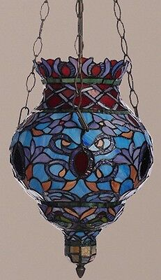 Tiffany-Style Stained Glass Amaya Hanging Pendant-Multi Colored