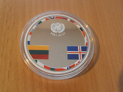 LITHUANIA 20 Euro 2016 25 years consolidation of Independence  silver proof