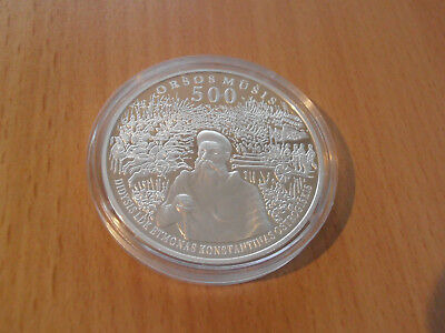 LITHUANIA 50 Litas 2014 500 years of the battle of Orsha silver proof