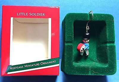 "Hallmark ""Little Soldier"" Miniature Ornament 1989"