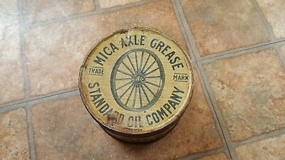 Vtg Standard Oil Company Mica Axle Grease Tin Can