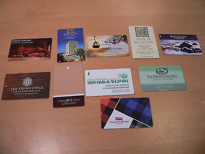 10 DIFFERENT MOTEL/HOTEL RESORT and LODGE ROOM KEY CARDS Mountain