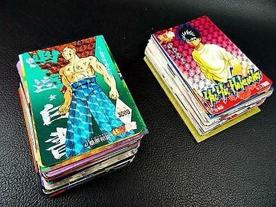 Yu Yu Hakusho / LOT of 113 Trading Card Japan Carddass Vintage Holo Japanese SET