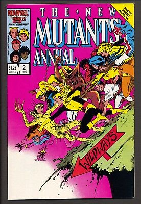 The New Mutants Annual #2 (1986)~1st Psylocke appearance~Chris Claremont~FN+