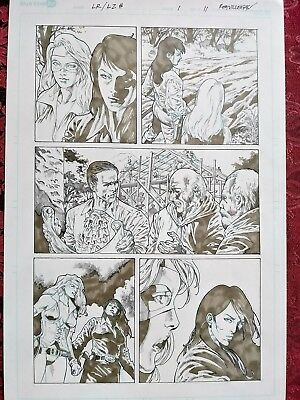 🏇 LADY RAWHIDE LADY ZORRO #1 pg11 Original R. Villegas Comic Art FREE COMB SHIP