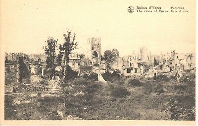 carte postale - Ypres - leper - CPA - Ruines d'Ypres - Panorama