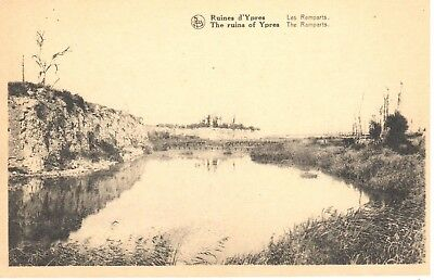 carte postale - Ypres - leper - CPA - Ruines d'Ypres - Les Ramparts