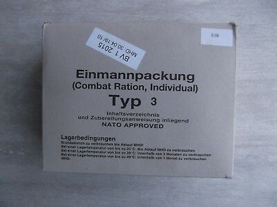 EPA Einmannpackung Combat Ration Bundeswehr TYP 3 Meal Ready to Eat 2015