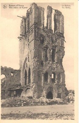 carte postale - Ypres - leper - CPA - Ruines d'Ypres - Le Beffroi