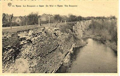 carte postale - Ypres - leper - CPA - Ruines d'Ypres - Remparts