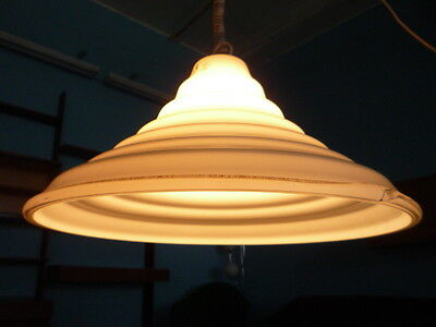 Rare Glass Wall and Ceiling Lamp MURANO Leucos 70s Top Condition