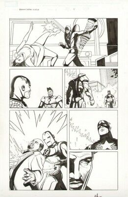 Jeremy Haun Avengers original art Captain America Iron Man Yellowjacket Wasp
