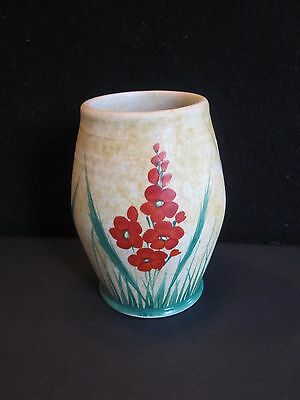 Antique Vintage Hand Painted E Radford Burslem Pottery Vase English 1930's Exc.