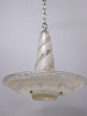 "Vintage Antique Fabulous Art Deco Chandelier Ceiling Light 34"" Long"