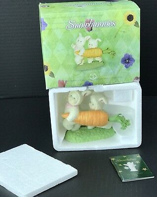 Department 56 Collectible Spring Snow bunnies In Box Enough For 2 2003