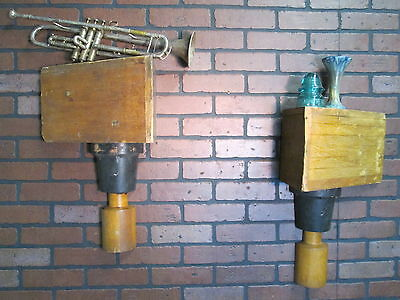 """PAIR Vintage Industrial Wooden Foundry Molds 22"""" Tall Great Shelves"""