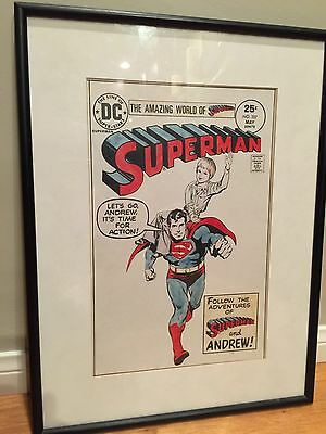 Rare 1975 Carmine Infantino Original Art Drawing Superman W/ Letter By Infantino