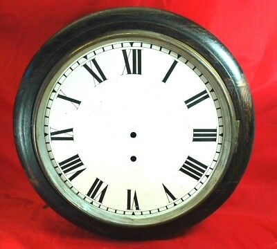 Antique/vintage round English oak wall clock case