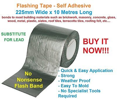 1 Roll NO NONSENSE Flashband/Tape 225mm x 10M - Self Adhesive- Roof - Repair