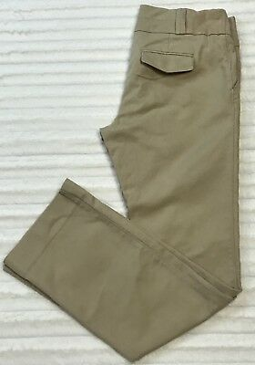 Old Navy Maternity Real Waist Stretch Twill Pants Size 1 Adjustable Cotton Khaki