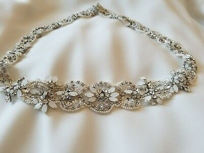 Bridal Rhinestone Wedding Gown Crystal Belt
