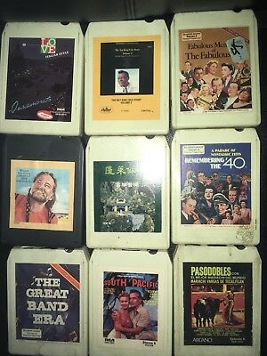 LOT OF 19 Assorted 8 Track Tapes and Case W Nelson Wynette Como P Lee