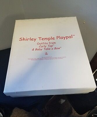 """Shirley Temple Playpal, Outfits from """"Curley Top"""" &""""Baby Take a Bow"""" in box"""