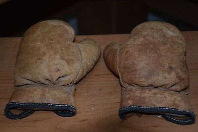 Vintage Child/Kid's Leather Boxing Gloves in Outstanding Condition!