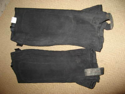 Ladies small black Washable Horse Riding Half Chaps Gaiter