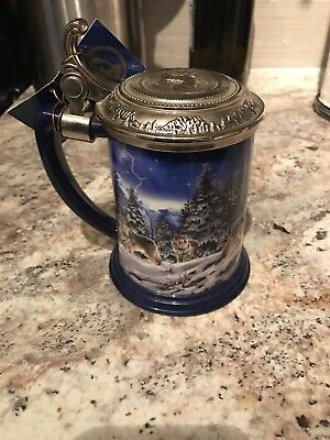 Stein Tankard Franklin Mint The Call of the North Collector Lidded