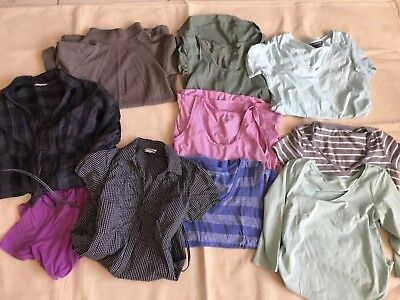 LOT maternity tops, sweaters; GAP Maternity, Motherhood, H&M MAMA, Pea in Pod S