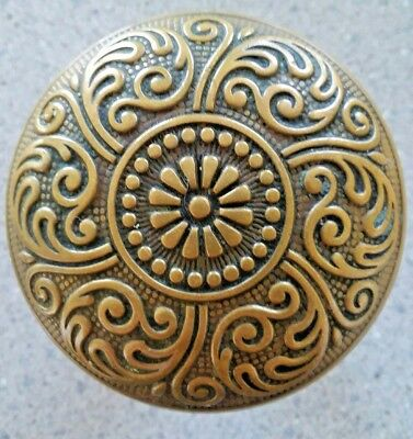 Antique Brass Bronze Door Knob - Victorian Eastlake Corbin Cairo J - 22100