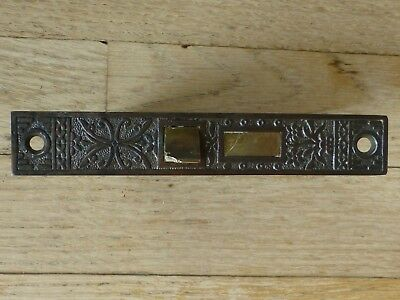 1 Vintage Unmarked Brass  Plate Eastlake Mortise Lock East Lake Mortise Lock
