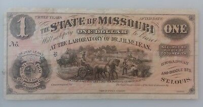 State of missouri 1800s Medical Advertising Note