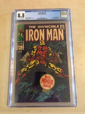 Iron Man 1 !! Cgc 8.5 !! S.a. Iconic Comic !! Awesome !!! No Reserve !!