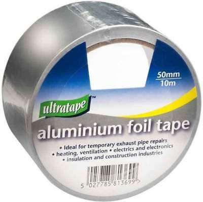 ALUMINIUM TAPE 50mm x 10m Foil Tape Silver Reflective Duct Self Adhesive Sticky