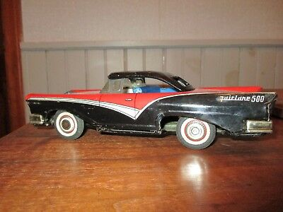 c.1960 TOYMASTER FORD FAIRLANE 500/TIN LITHO/MADE IN JAPAN