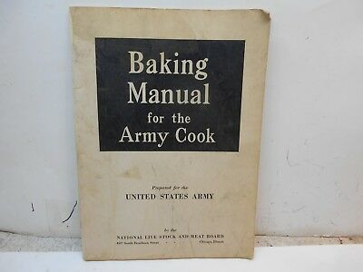 vintage Baking cook book for the Army Cook
