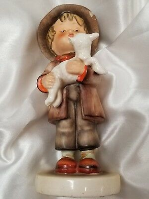 GOEBEL HUMMEL VINTAGE LOST SHEEP LITTLE BOY BROWN HAT Lamb Porcelain FIGURINE