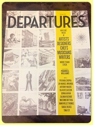 AMEX Departures Magazine Guest Editor Pharrell Williams Issue October 2017 New