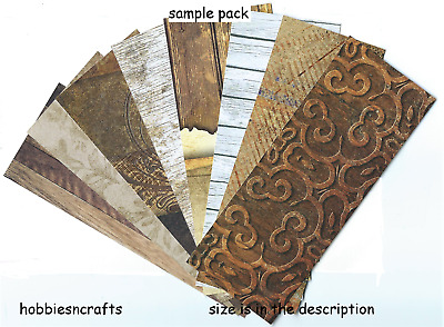 ASSORTED BACKING PAPERS 6 X 6 SAMPLE PACK BOTANICAL NATURE 1 SHEET EACH DESIGN