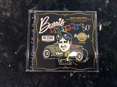Rare, Signed Barris Kustoms of the 50s Hard Rock Hotel Casino Kollector $5 Chips