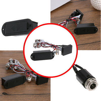 9V High Quality 3 Band EQ Preamp Circuit For Bass Pickup Active Brand +/-12 db