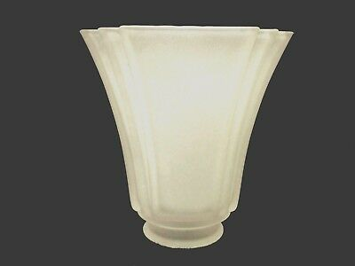 "2- 1/4"" Fitter Square Casablanca Frosted Mission Glass Shade Sconce Ceiling Fan"