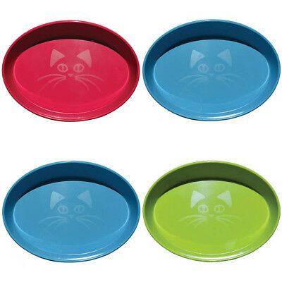 PACK 4 x Scream OVAL CAT BOWLs 300ml (Assorted Colours)