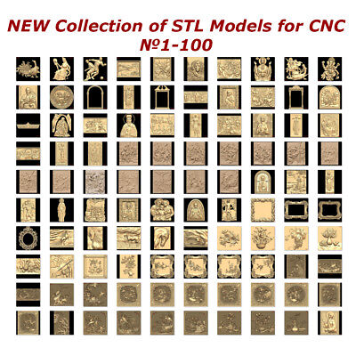 №1-100 of 1100 - NEW Collection of STL Models for CNC Artcam Aspire 3d Printers